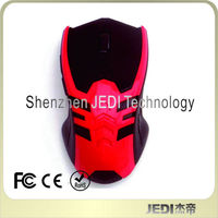 Latest RED surface 2.4G wireless mouse for Macbook windows xp vista 7 laptop PC travel