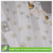 Latest designs Transparent Fashion voile curtain styles for dubai