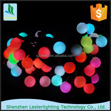 5M 50 110V US Plug 1.8cm round ball color changing outdoor christmas led string lights,led fairy lights
