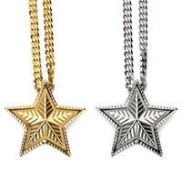 Manufacturer of jewelry wholesale, five-pointed star pendant, super good quality hip hop jewelry YSS1009