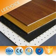 Insulation Decorative Wooden Perforated Wooden Grooved Interior Wall Acoustical Block