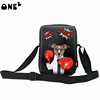 ONE2 Design black boxing dog shoulder sling messenger bag