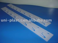 Injection Molded Clip Strip,Display Strips,PP Hang Strips