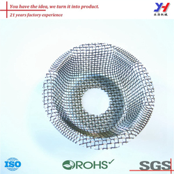 Custom fabricated stamping metal parts, Wire mesh tea strainer, Stainless steel filter
