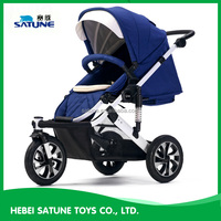 Aluminium Alloy Materiall China 2016 pram stroller for baby / Easy Carry pram 3 in 1 / deluxe high seat baby stroller