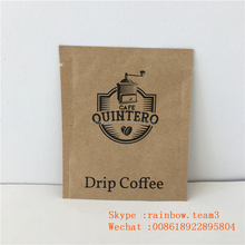 Wholesale Food Grade Sealable Empty Packets Packaging With Zipper Kraft Paper Tea Sample Packet