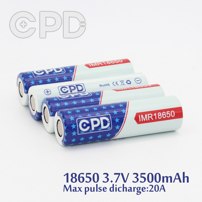 High Drain cpd 18650 3500mah 3.7v 20A li-ion batteries 18650 lithium battery