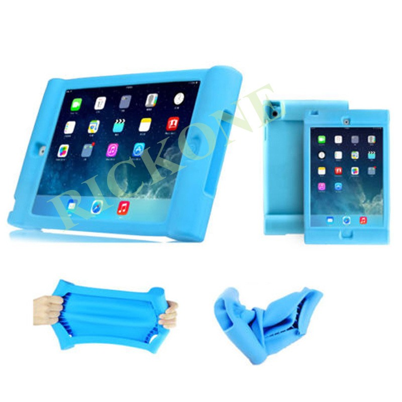 Unique Shockproof Soft Stand Case for iPad AIR 2 Protective Cover for Children Kids Students Foam Designed