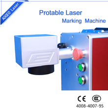 10w 20w 30w Raycus Laser Source Portable Fiber Laser Marking Machine for cellphone case/keyboard/pcb/pvc marking