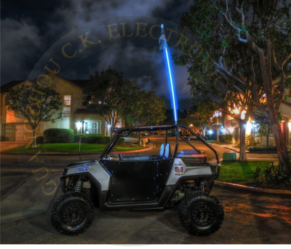 Multi color 12V high quality led whiplash lights LED Antenna Light for atv cars