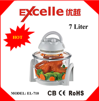 7L home use electric halogen convection oven