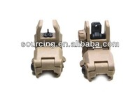 Top Outdoor Tactical Gear Military Front and Rear Tan-Up Sight Set Tan infrared llaser sight laser target as airsoft pistol