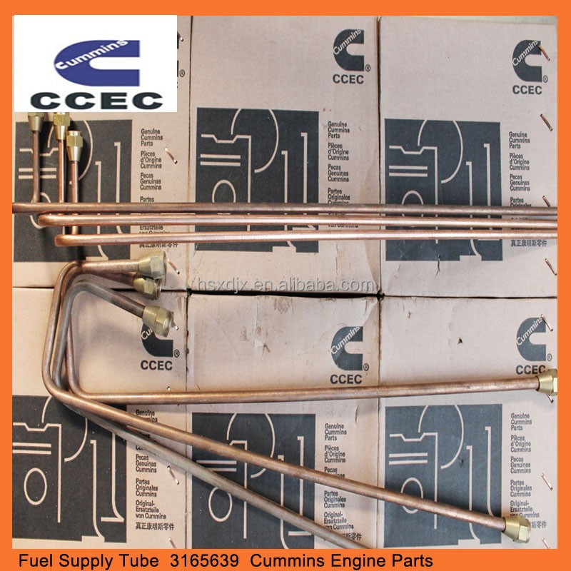 China construction machinery engine parts,CCEC,DCEC NTA855 engine parts, 3165639,fuel supply tube