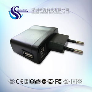 2016 Hot Sale KC Approved 5V 0.5A 500mA USB Power Adapter Switch Power Supply for cosmetic instrument