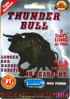 Factory manufactured Thunder Bull sex pills card packaging with handhole and blister window