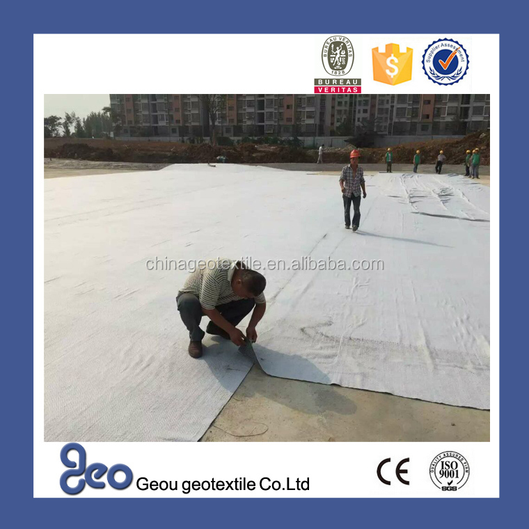 Polyester Non-woven Geotextile 200gsm for Roadbed Reinforcement or Protection