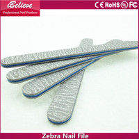 ibelieve hot sale professional zebra abrasive emery board 2015 hot sale triangle nail file for nail salon
