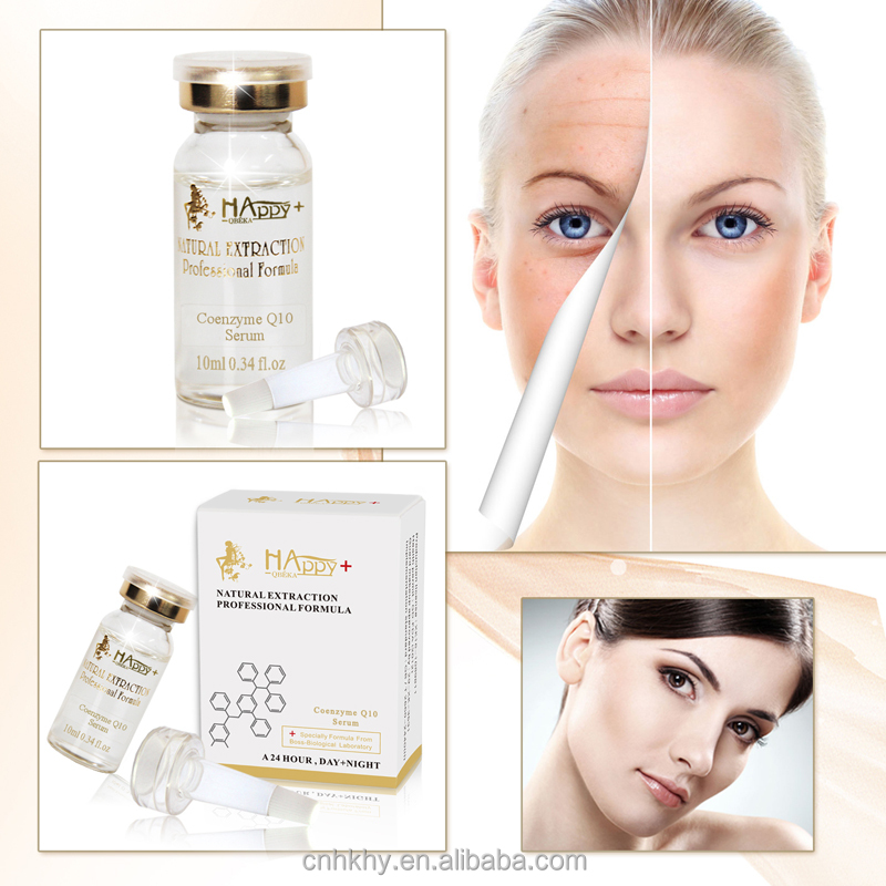 100% pure natural repairing Happy+ QBEKA <strong>coenzyme</strong> <strong>Q10</strong> serum anti-aging serum skin care serum