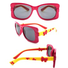 Children Super Fashion Cute Butterfly Round Flip Out Sunglasses
