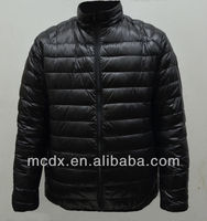 2015 Trendy fashion softshell shiny down feather jacket for man