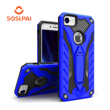 New design shockproof armor case with kickstand, custom design mobile phone case for iphone 7,8/X
