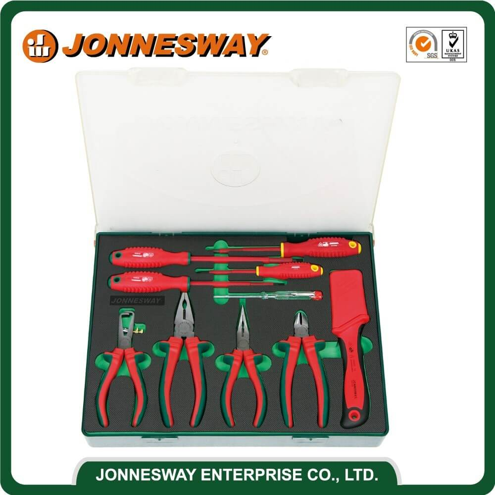 JONNESWAY 10PCS 1000V INSULATED TOOL SET