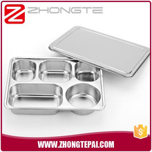 compartment Stainless steel takeaway food container