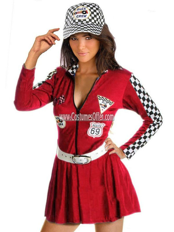 Red Racer Girl Costume