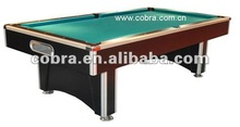 superior quality wooden pool table&customized different design and size billiard table