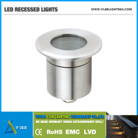 YJQ-0023 IP67 12V 1 watt recessed LED mini downlight