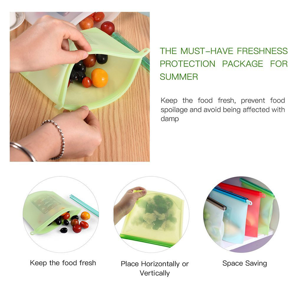 silicone reusable food preservation bag
