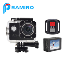 "16.0MP 4K camera 30fps 2""inch H12R Sport Camera WIFI FULL HD MINI Action Camera with remote control"