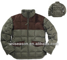 Verde oliva outdoor <span class=keywords><strong>chaqueta</strong></span> acolchada <span class=keywords><strong>de</strong></span> diseño para hombres