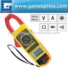 Handheld Digital Manual Range 52mm Clamp Multimeter DCV ACV ACA Resistance Continuity