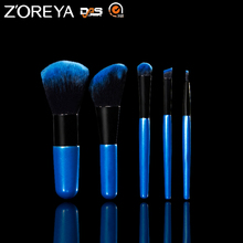 ZN55 Stock Wholesale 5pcs Nylon Hair Professional Makeup Brush Set