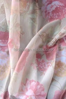 2015 cheap polyester voile printed sheer curtain fabric
