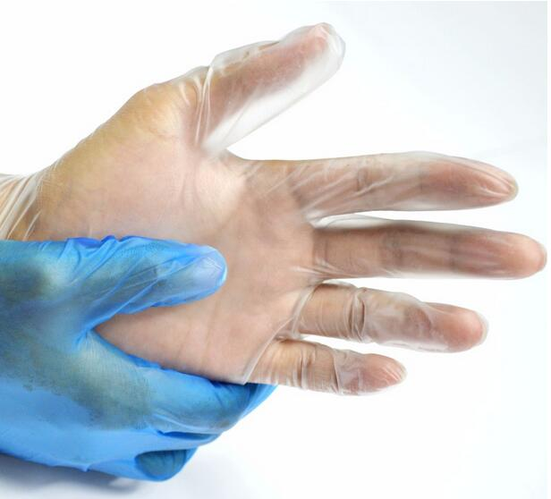 medical supply disposable transparent gloves