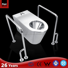 stainless steel toilet seat for handicapped patient toilet