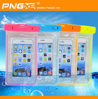 PNGXE design diving pvc waterproof sand bag with lumunous edge for universal mobile phone