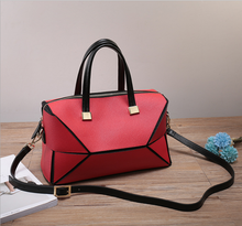Korean pure color cow Leather trend women shoulder bag with wholesale price
