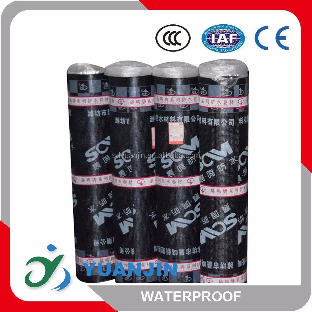 roof waterproofing material 3mm 4mm aluminum foil slates sand SBS modified asphalt waterproof membrane