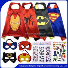 Halloween Superhero Cape and Mask Halloween Costumes For Kids - Capes, Masks Stickers and Tattoos