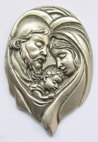 zinc alloy wall plaque,pewter holy mary figurine
