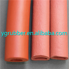 Heat resistant silicone rubber foam tubing