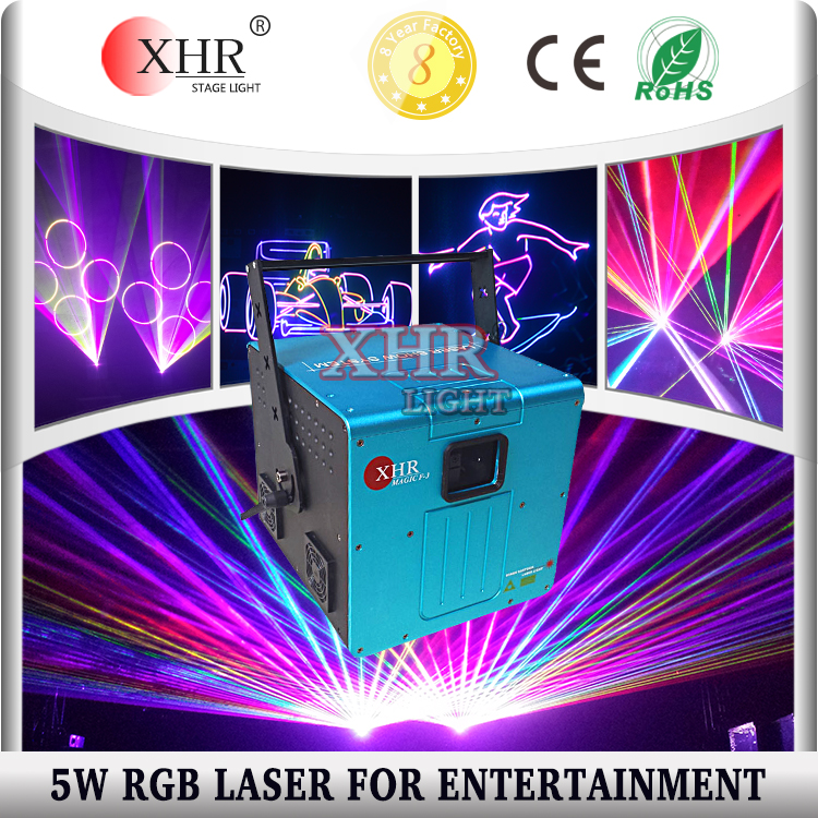 5000mw RGB Animation laser stage light 5w full color laser projector