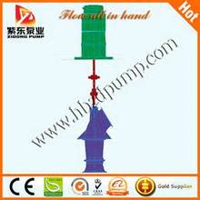 Vertical axial flow pump for fishing pond