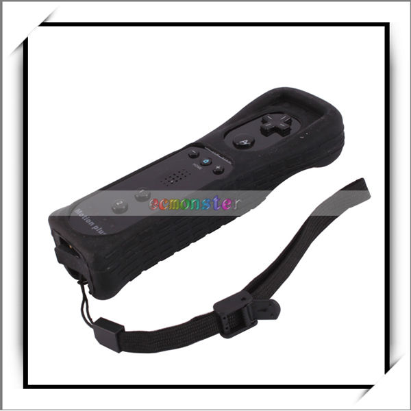 Wholesale !! Remote Controller Built-in Motion Plus For Wii Black -V00594
