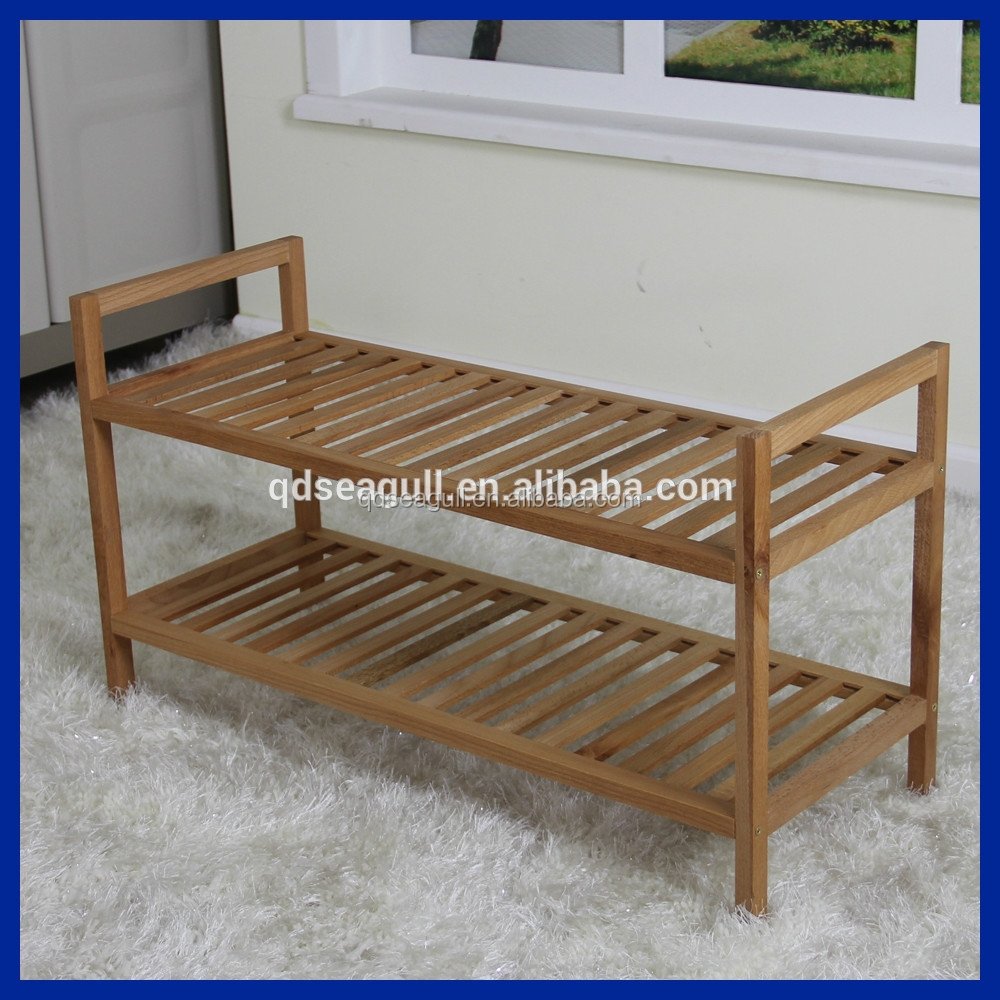 Walnut & beech wood oil furniture shoe rack with low price