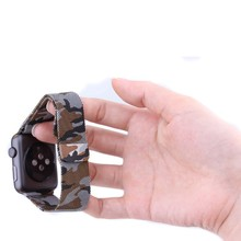 New 2016 Camouflage Camo Magnetic Milanese Stainless Steel Loop Watch Band Strap For Apple Watch 38/42mm