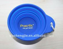 2012 promotional collapsible silicone travel pet bowl